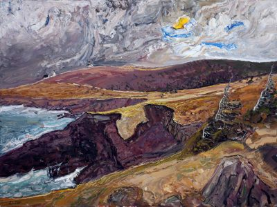 167 - Windy Day, Cape Spear 36x48